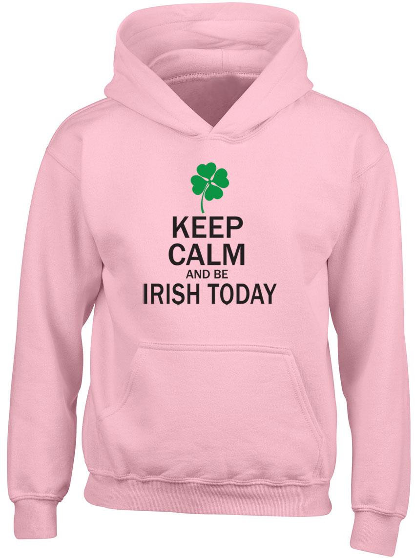 Keep-Calm-et-etre-irlandais-aujourd-039-hui-St-Patrick-039-s-Day-Garcons-Filles-Enfants-Sweat-a