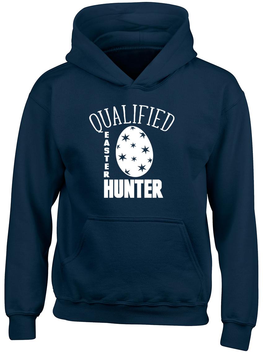Qualified Easter Egg Hunter Boys Girls Kids Childrens Hoodie