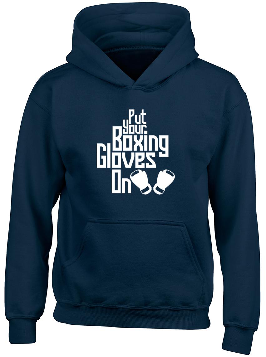 Mettez-vos-gants-de-boxe-sur-Garcons-Filles-Enfants-Sweat-a-capuche